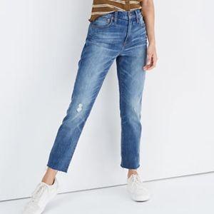 Madewell The High-Rise Slim Crop Boyfriend Jean